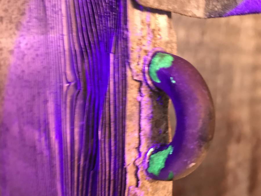 Heat exchanger with UV Dye