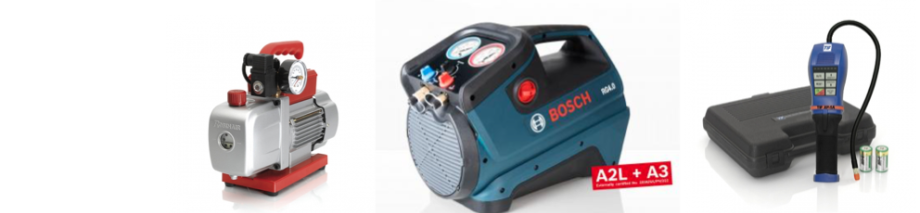 Robinair vacuum pump, bosch  RG 4 recovery machine, TIF XP-1A Leak detector